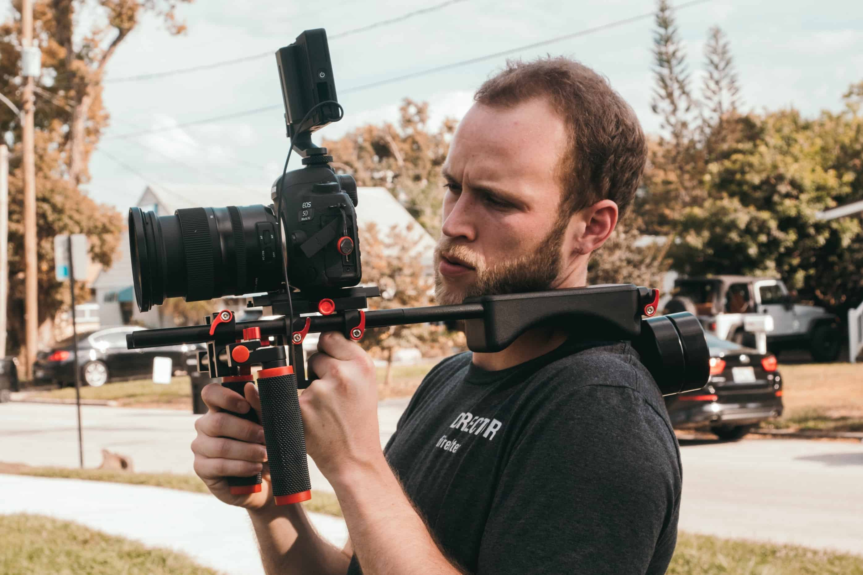 Legal Videographer Working