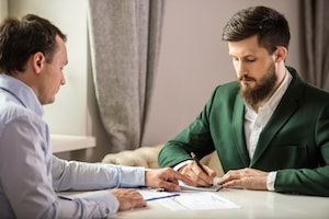 Man preparing for deposition questions